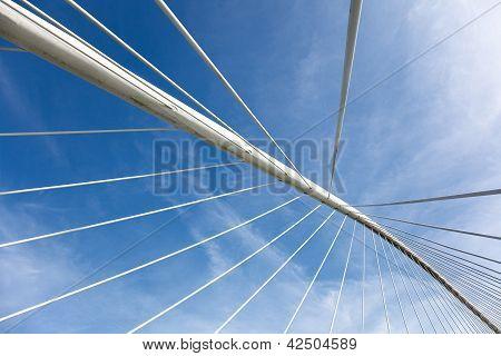 Zubizuri Bridge, Bilbao, Bizkaia, Basque Country, Spain