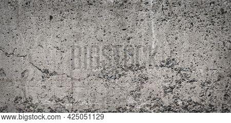 Concrete Wall Background, Concrete Texture With Vignette