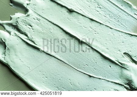 Alginate Mask Or Green Clay Bentonite Facial Mask, Body Wrap Texture, Close Up. Abstract Background