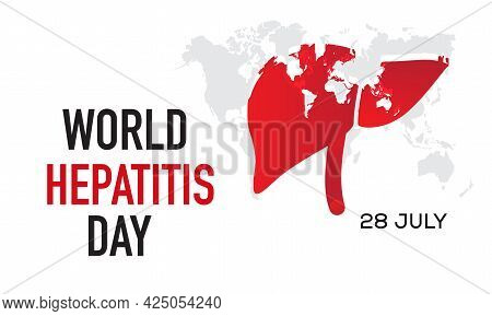 World Hepatitis Day Background Vector Banner Concept. Hepatitis Day Awareness Campaign Template For