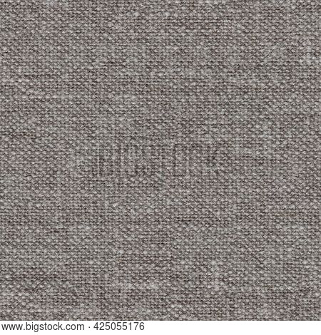 Strict Grey Fabric Background For Your Design. Seamless Square Texture.