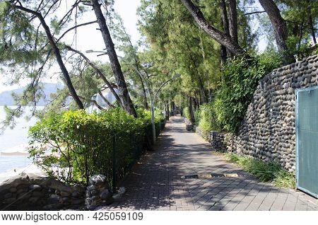 Icmeler Bay, Aegean And Mediterranean Sea. Turkish Resort Of Marmaris. Summer Vacation Or Weekend On