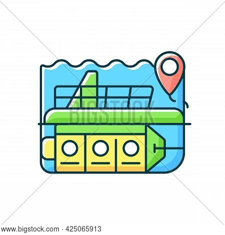 Atlantis Submarines Rgb Color Icon. Vessel For Exploration Underwater. Scientific Research. Nautical