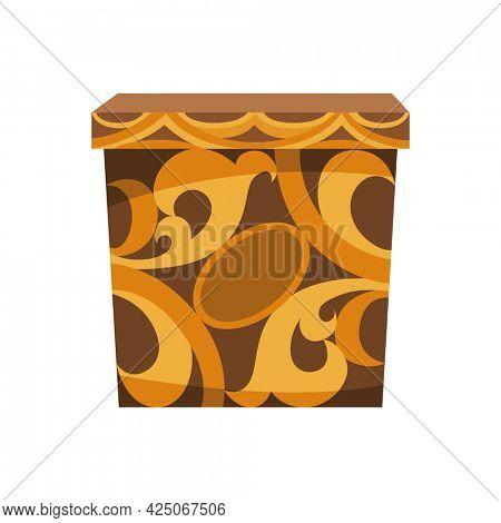 Donation carton box for throws coin in a box. Donate, giving money charity concept. Carton container icon