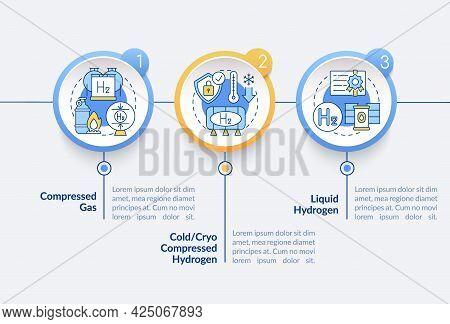 Hydrogen Storing Methods Vector Infographic Template. Compressed Gas Presentation Outline Design Ele