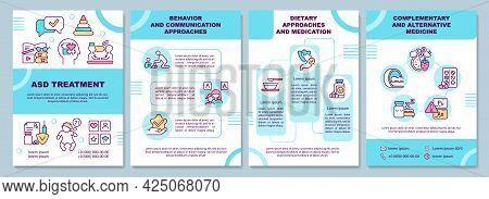 Asd Treatment Brochure Template. Behavior Approaches. Flyer, Booklet, Leaflet Print, Cover Design Wi