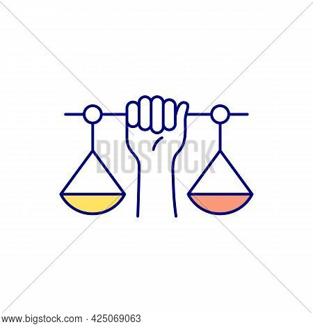 Equal Protection Rgb Color Icon. Democratic Society. Isolated Vector Illustration. Giving Equal Righ