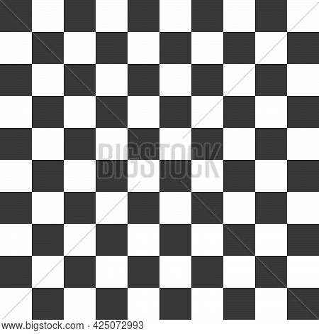 Black And White Squares In A Checkerboard Pattern. Vector Illustration Background And Texture.