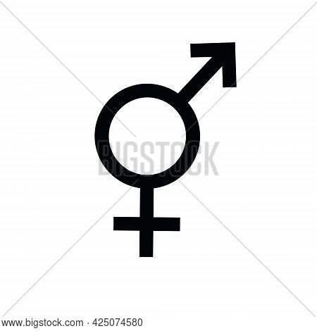 Vector Flat Bi Bisexual Bigender Sign Isolated On White Background