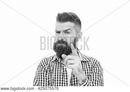 Got An Idea. Male Barber Care. Making Haircut Look Perfect. Getting Haircut By Hairdresser. Hipster