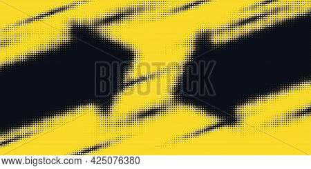 Monochrome Printing Raster. Modern Vector Halftone Background.