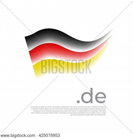 German Flag. Stripes In Colors Of Flag Of Germany On A White Background. Vector Stylized National Po