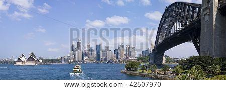 Sydney Harbour showing the Sydney Harbour Bridge and Opera House