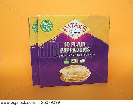 London - Circa June 2021: Patak's Packet Of Pappadums
