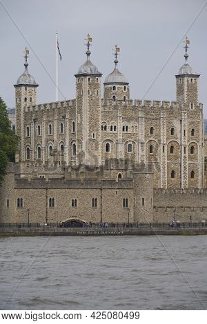 London, United Kingdom - June 24, 2021: Tower Of London. Historic Fortress On The Bank Of The River