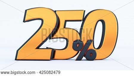 3d Render Of Discount Two Hundred Fifty 250 Percent Off Isolated On White Background