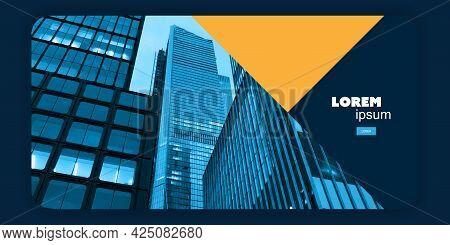 Web Design Elements - Header Or Banner, Multi Purpose Design Template With Skyscraper, Urban Theme