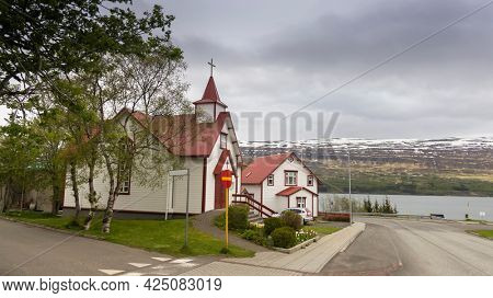 St Peter's catholic church in Akureyri city, Iceland