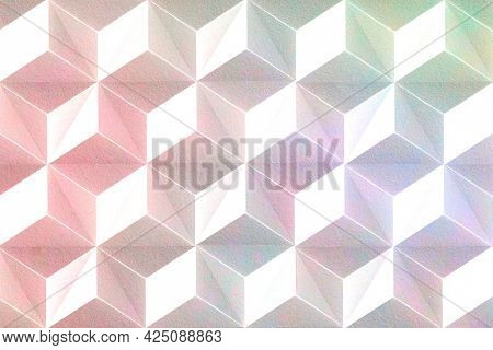 Cubic seamless patterned background wallpaper