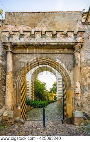 Chateau Gate And Bridge In Brandys Nad Labem, Czech Republic
