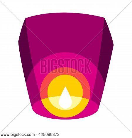 Illustration Of Diwali Paper Lantern. Deepavali Or Dipavali Festival Of Lights.