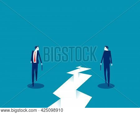 Business Individual Walk Direction. Walk Forward And Come Back
