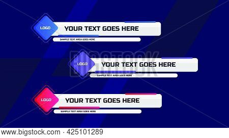 Lower Third Design Template. Set Of Tv Banners And Bars For News And Sport Channel, Streaming And Br