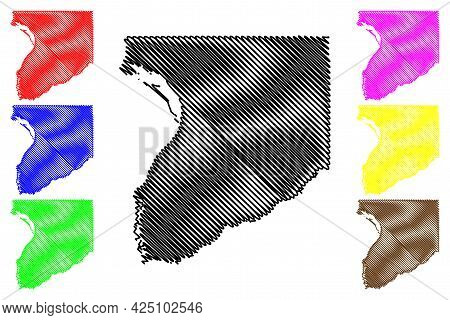 Crawford County, State Of Wisconsin (u.s. County, United States Of America, Us) Map Vector Illustrat