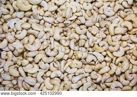 Indian Walnut Or Cashew Is White. Fruits Nuts Vegetables Berries Useful Products Agriculture