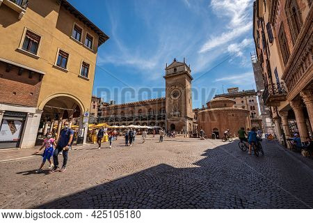 Mantua, Italy - May 9, 2021: Church Rotonda Di San Lorenzo In Romanesque Style (1083-xi Century) And