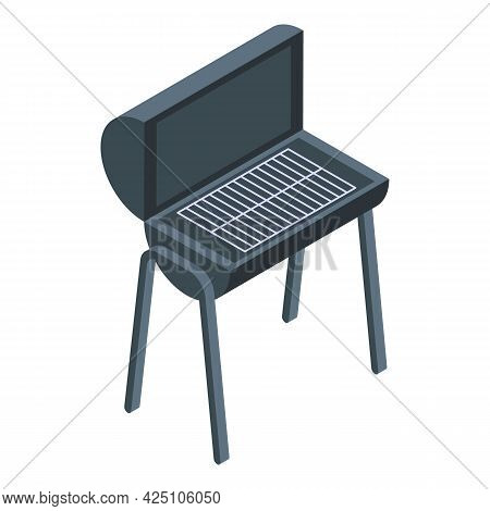 Bbq Grill Icon Isometric Vector. Party Barbecue. Barbeque Grill