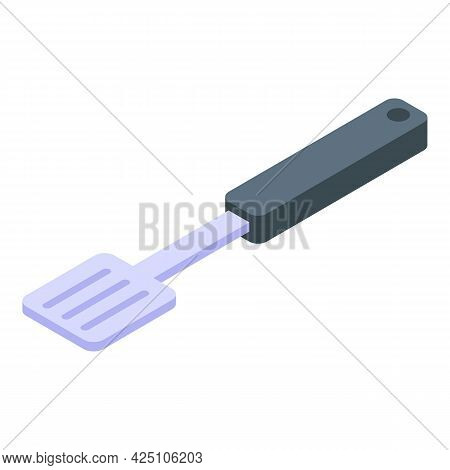 Bbq Spatula Icon Isometric Vector. Barbecue Grill Cutlery. Bbq Tool Utensil