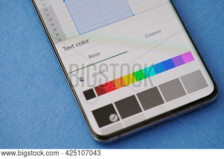 Changing Text Color In Microsoft Excel