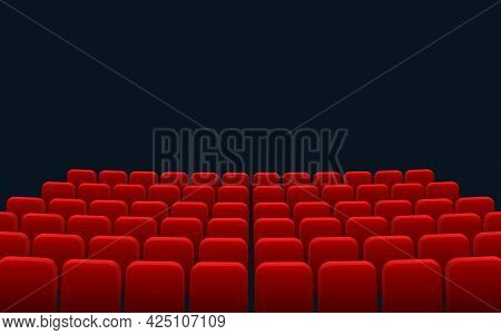 Cinema Seats Isolated On Checkered Background. Vector Illustration