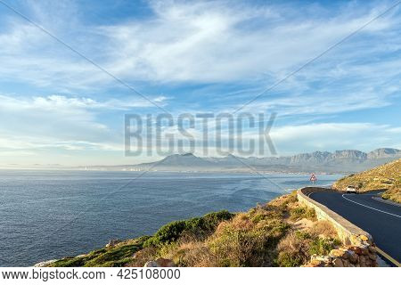 The View From Clarence Drive Accross False Bay Towards Die Strand And Gordons Bay In The Western Cap