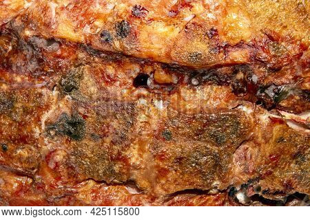 Smoked Pork Meat For Pea Soup.smoked Pork Ribs.meat Background Of Smoked Meat.texture Of Smoked Pork