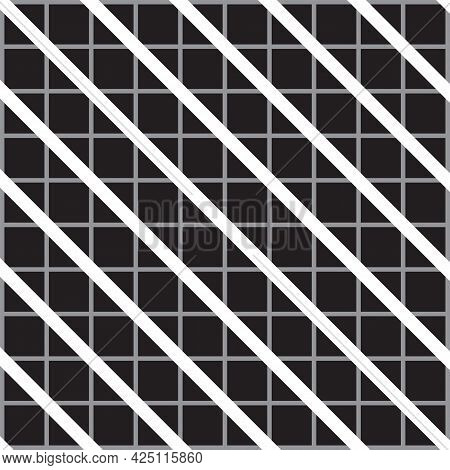 Optical Illusion - Black Diagonal Lines Are Not Real But A Product Of The Imagination