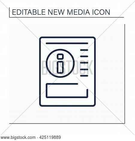 Gazette Line Icon. Article On Paper. Political, Cultural Info. Information Space. Important News. Ne