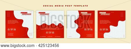 Social Media Post Template With Smooth Zigzag Design. Good Template For Online Advertising Design.