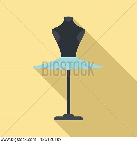 Ballerina Dress Icon Flat Vector. Princess Ballet Dress. Cute Girl Skirt