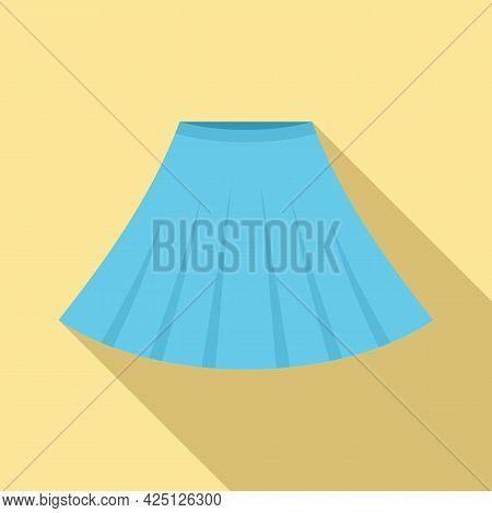 Ballerina Skirt Icon Flat Vector. Ballet Dancer Dress. Dance Kid Skirt
