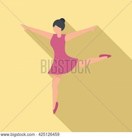 Ballet Pose Icon Flat Vector. Ballerina Dancer. Woman Dance Class