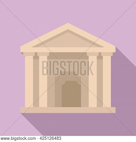 Theater Building Icon Flat Vector. City Theatre. Exterior Theater Building