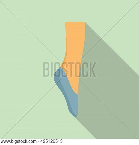Ballerina Foot Icon Flat Vector. Ballet Dancer. Dance Woman Foot
