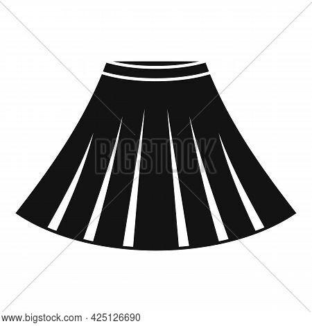 Ballerina Skirt Icon Simple Vector. Ballet Dancer Dress. Dance Kid Skirt