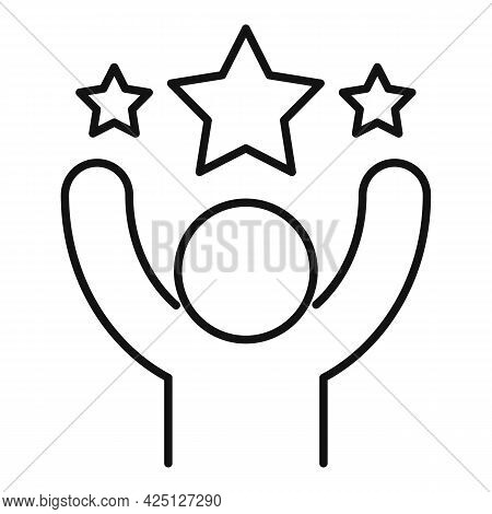 Lottery Win Icon Outline Vector. Money Prize. Jackpot Cheque