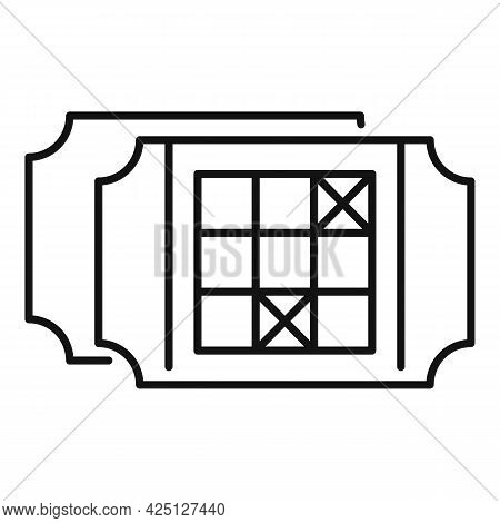 Win Ticket Icon Outline Vector. Raffle Prize. Game Coupon