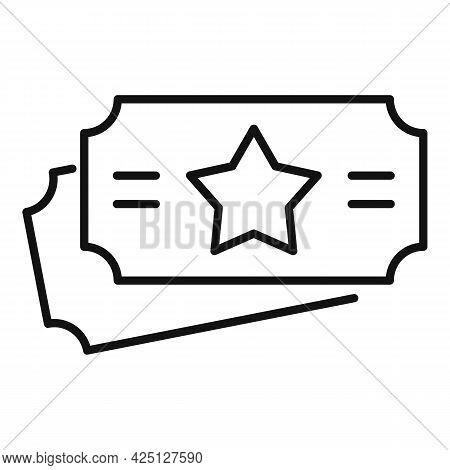 Lotto Star Ticket Icon Outline Vector. Lottery Card. Win Bingo