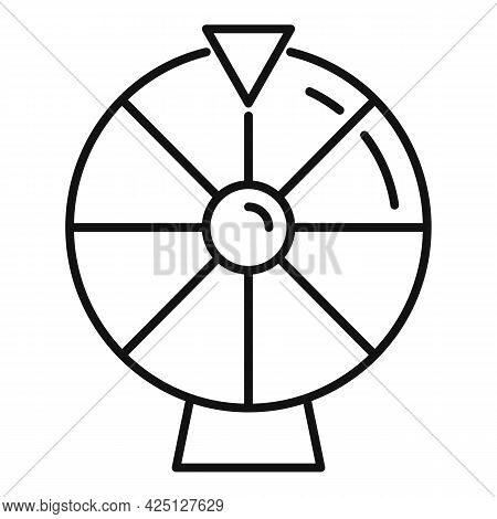 Lucky Wheel Icon Outline Vector. Lottery Game. Fortune Wheel Casino