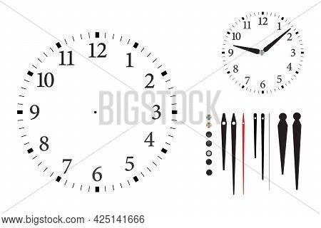 Modern Wall Clock With Arabic Numerals Minimalist Style.